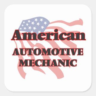 American Automotive Mechanic Square Sticker