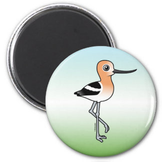 American Avocet 2 Inch Round Magnet