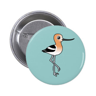 American Avocet 2 Inch Round Button