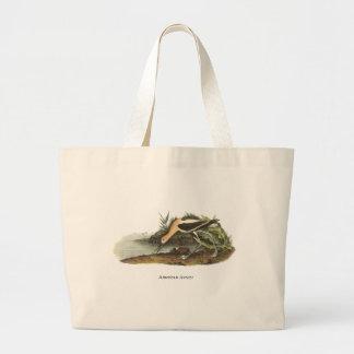 American Avocet, John James Audubon Canvas Bags