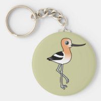 American Avocet Basic Button Keychain