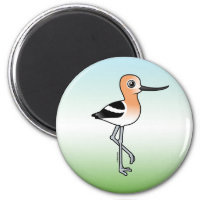 American Avocet Round Magnet