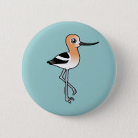 American Avocet Round Button