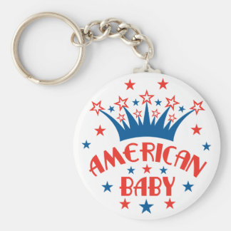 American Baby Keychain