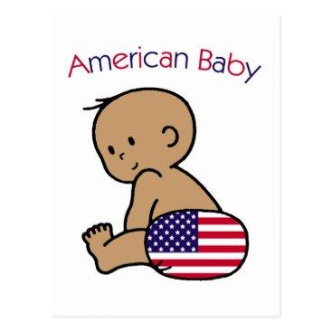 USA Themed American Baby Postcard