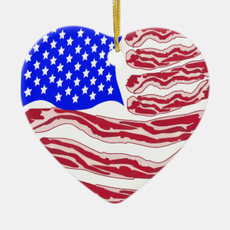 American Bacon Flag Ornaments