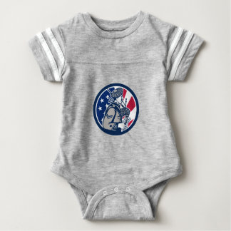 American Bagpiper USA Flag Icon Baby Bodysuit