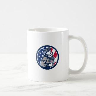 American Bagpiper USA Flag Icon Coffee Mug