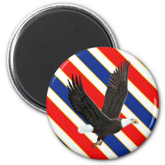 American Bald Eagle 2 Inch Round Magnet