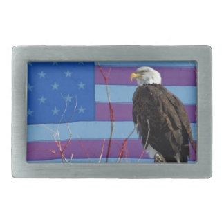 American Bald Eagle 3 Rectangular Belt Buckle