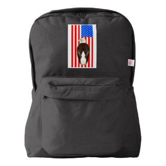 American Bald Eagle And American Flag American Apparel™ Backpack