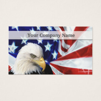 Eagle with flag business cards templates zazzle american bald eagle and flag business cards colourmoves