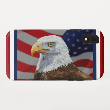 American Bald Eagle and Flag iPhone XR Case