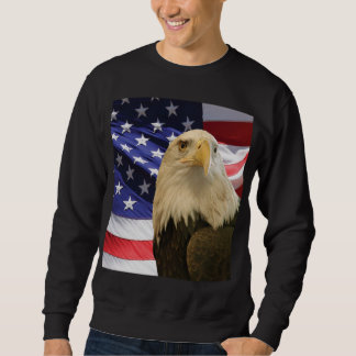American Bald Eagle and Flag Sweatshirt