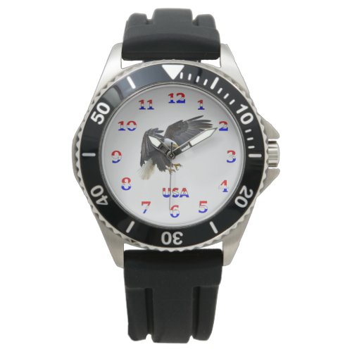 American Bald Eagle and Flag Watch
