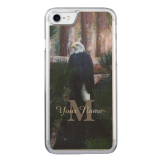 American bald eagle and monogram carved iPhone 7 case