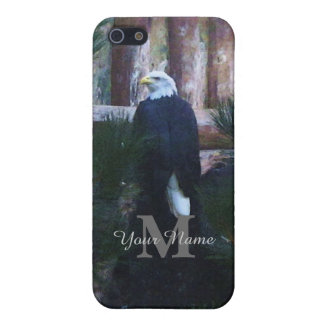 American bald eagle and monogram cover for iPhone SE/5/5s