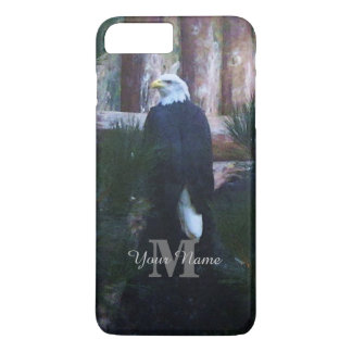 American bald eagle and monogram iPhone 7 plus case