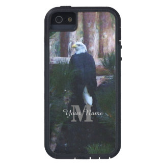 American bald eagle and monogram iPhone SE/5/5s case