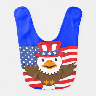 American Bald Eagle Baby Bib