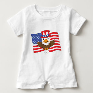 American Bald Eagle Baby Romper