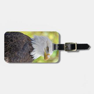 American bald eagle bag tag
