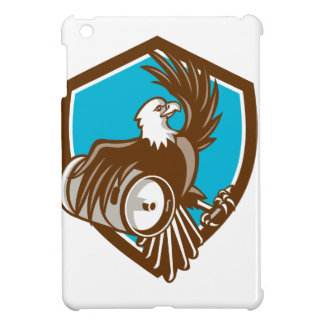 American Bald Eagle Beer Keg Crest Retro Cover For The iPad Mini