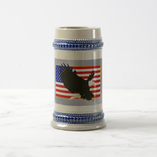American Bald Eagle Beer Stein
