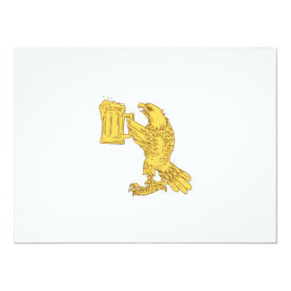 American Bald Eagle Beer Stein Drawing Card