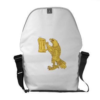 American Bald Eagle Beer Stein Drawing Messenger Bag