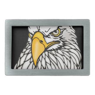 American bald eagle black belt buckles