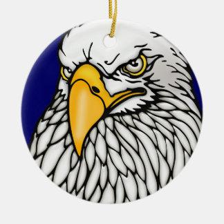 American bald eagle ceramic ornament