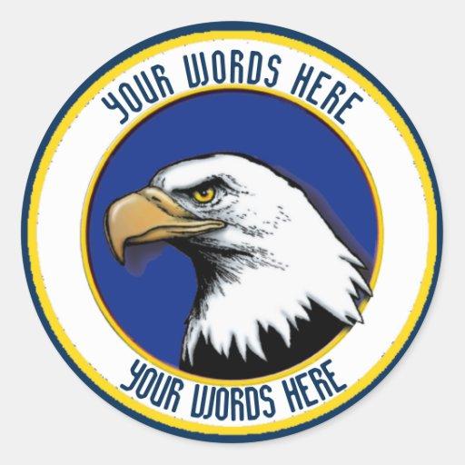 American bald eagle custom classic round sticker zazzle for American classic customs