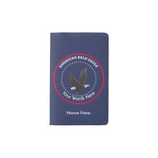 American Bald Eagle Custom Pocket Moleskine Notebook Cover With Notebook