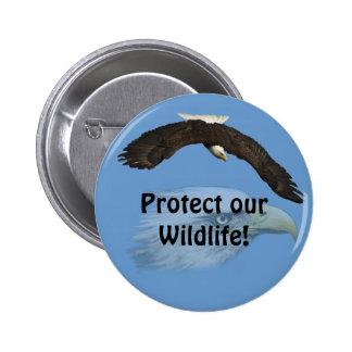 American Bald Eagle Design for Bird-lovers Button