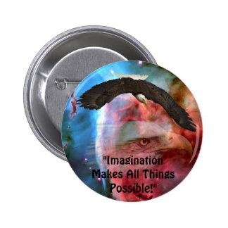 American Bald Eagle Design for Bird-lovers Pinback Button