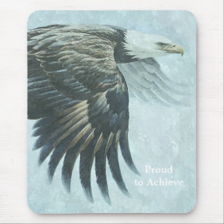 American Bald Eagle Digital Painting Mouse Pad