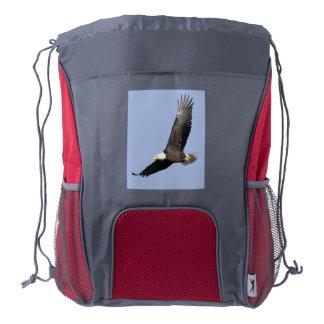 American Bald Eagle Drawstring Backpack