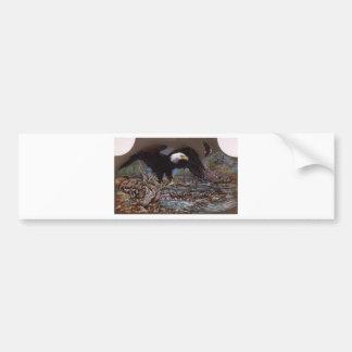 American Bald Eagle Fishing Bumper Sticker