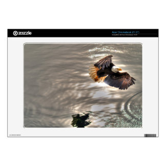 American Bald Eagle Flying Over Ocean Decal For Acer Chromebook