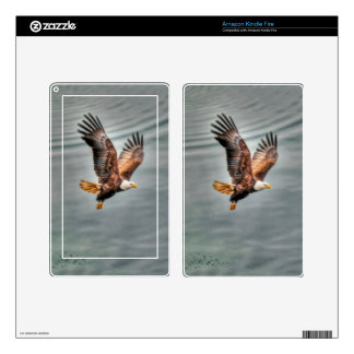 American Bald Eagle Flying Over Ocean Decal For Kindle Fire