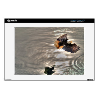 American Bald Eagle Flying Over Ocean Laptop Decal