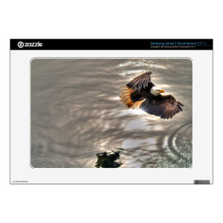American Bald Eagle Flying Over Ocean Samsung Chromebook Skin