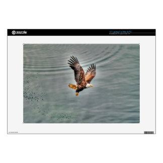 """American Bald Eagle Flying Over Ocean 15"""" Laptop Skins"""