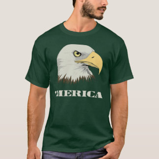 American Bald Eagle For Merica T-Shirt