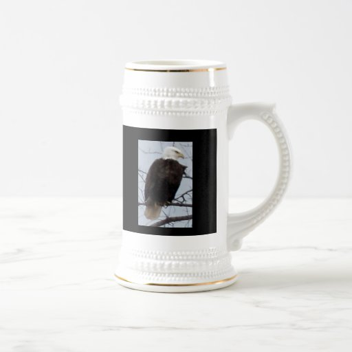 American Bald Eagle Happy Father's Day Stein Mugs