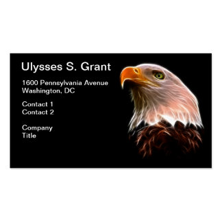 American Bald Eagle Head Double-Sided Standard Business Cards (Pack Of 100)