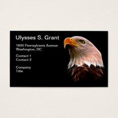 American Bald Eagle Head Business Card at Zazzle
