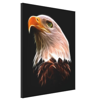 American Bald Eagle Head Canvas Print