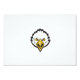 American Bald Eagle Head Screaming Retro Card